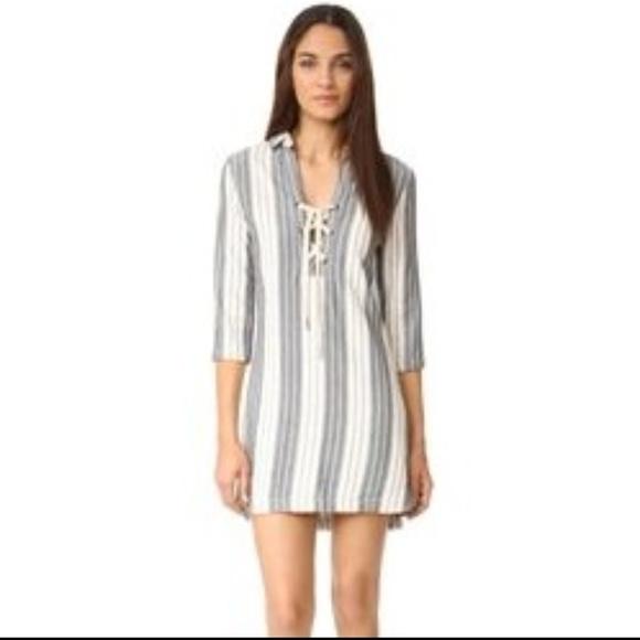 a5240a2b138 Maven West black white striped laced shirt dress. M 5a9ff4faa6e3ea4b28770975